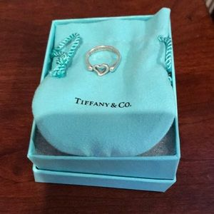 Tiffany open heart ring size 6